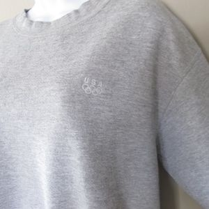 USA Olympics Sweatshirt Short Sleeve Vintage Gray